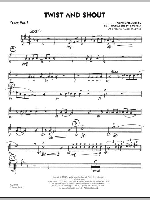 Twist And Shout - Tenor Sax 2 (Jazz Ensemble)