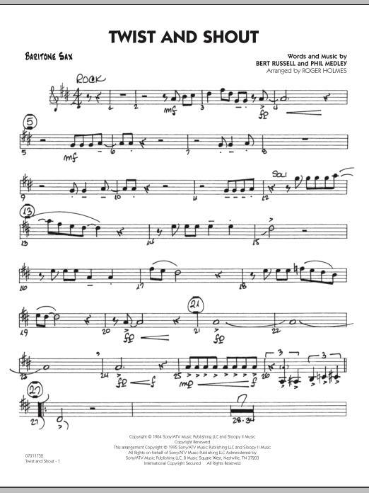 Twist And Shout - Baritone Sax (Jazz Ensemble)