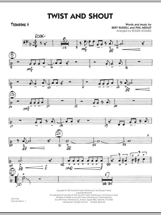 Twist And Shout - Trombone 4 (Jazz Ensemble)