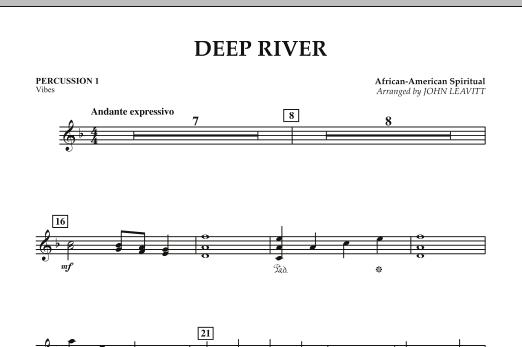Deep River - Percussion 1 Partition Digitale