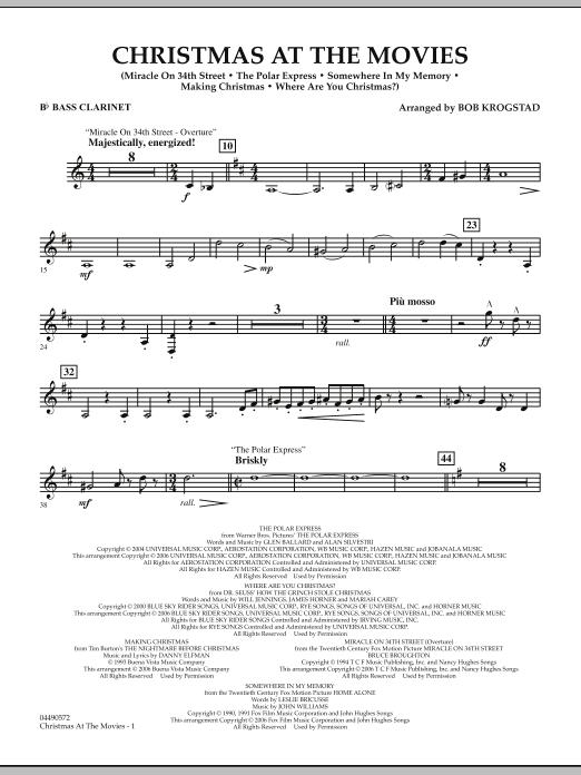 Christmas At The Movies - Bb Bass Clarinet (Full Orchestra)