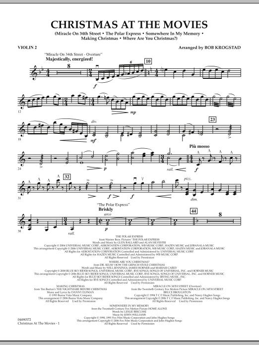 Christmas At The Movies - Violin 2 (Full Orchestra)