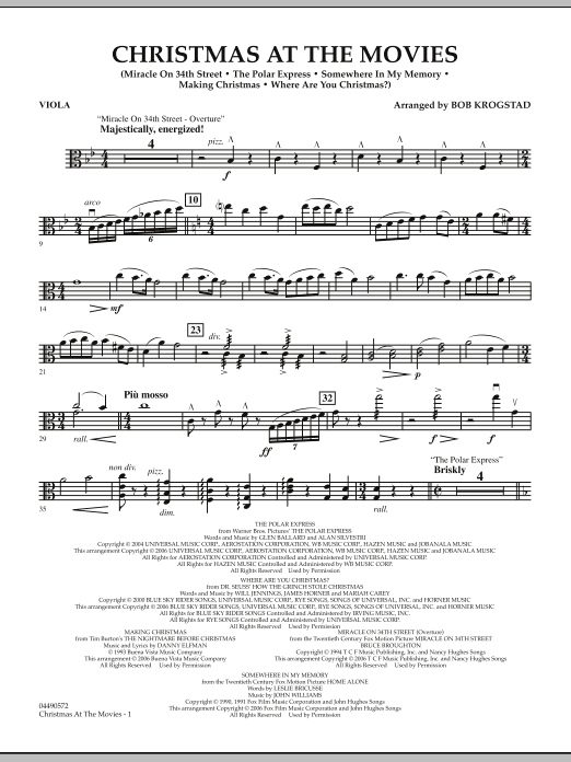 Christmas At The Movies - Viola (Full Orchestra)