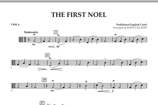The First Noel - Viola (Orchestra)