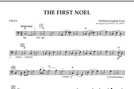 The First Noel - Cello (Orchestra)
