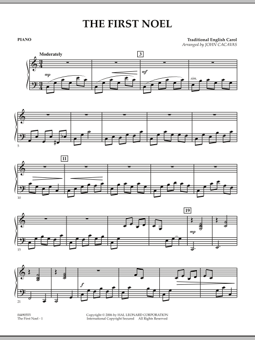The First Noel - Piano (Orchestra)