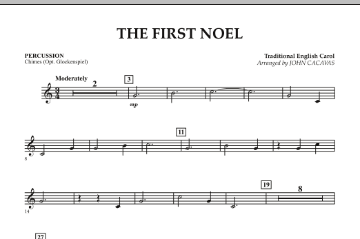 The First Noel - Percussion (Orchestra)