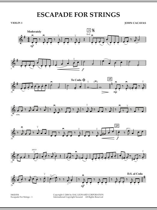 Escapade for Strings - Violin 1 (Orchestra)