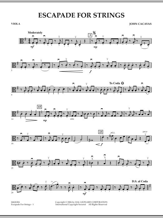 Escapade for Strings - Viola (Orchestra)