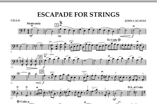 Escapade for Strings - Cello (Orchestra)