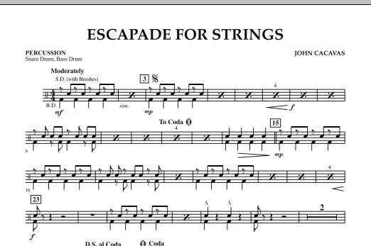 Escapade for Strings - Percussion (Orchestra)