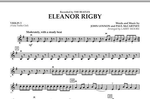 Eleanor Rigby - Violin 3 (Viola T.C.) (Orchestra)