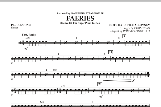 Faeries (from The Nutcracker) - Percussion 2 (Orchestra)