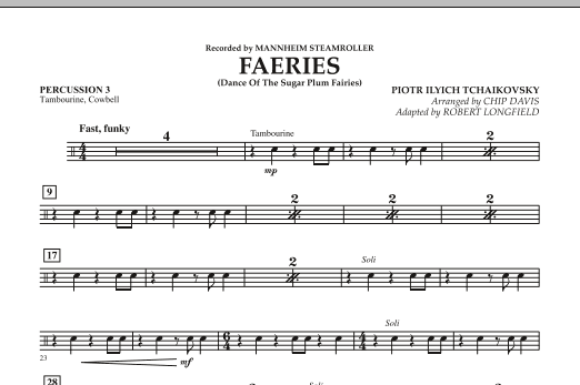 Faeries (from The Nutcracker) - Percussion 3 (Orchestra)