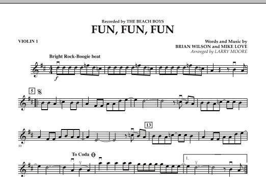 Fun, Fun, Fun - Violin 1 Sheet Music