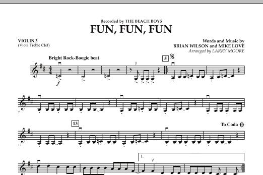 Fun, Fun, Fun - Violin 3 (Viola T.C.) (Orchestra)