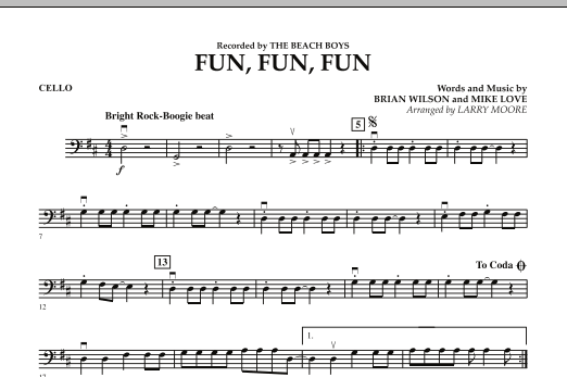 Fun, Fun, Fun - Cello Sheet Music