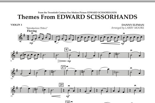 Themes from Edward Scissorhands - Violin 1 (Orchestra)