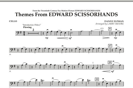 Themes from Edward Scissorhands - Cello (Orchestra)
