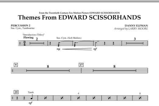 Themes from Edward Scissorhands - Percussion 2 (Orchestra)