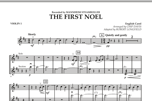 The First Noel - Violin 1 (Orchestra)