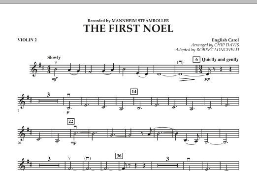The First Noel - Violin 2 (Orchestra)