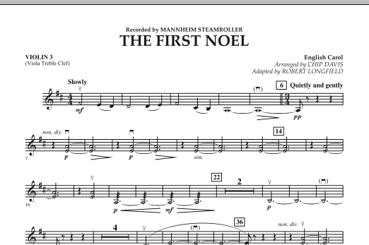 The First Noel - Violin 3 (Viola T.C.) (Orchestra)