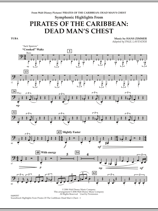 Soundtrack Highlights from Pirates Of The Caribbean: Dead Man's Chest - Tuba (Full Orchestra)