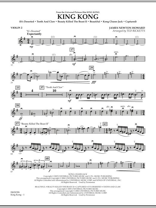 King Kong - Violin 2 (Orchestra)