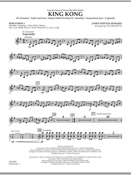 King Kong - Percussion 1 (Orchestra)
