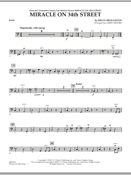 Miracle On 34th Street - Bass (Orchestra)