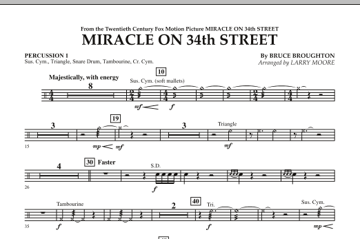 Miracle On 34th Street - Percussion 1 (Orchestra)