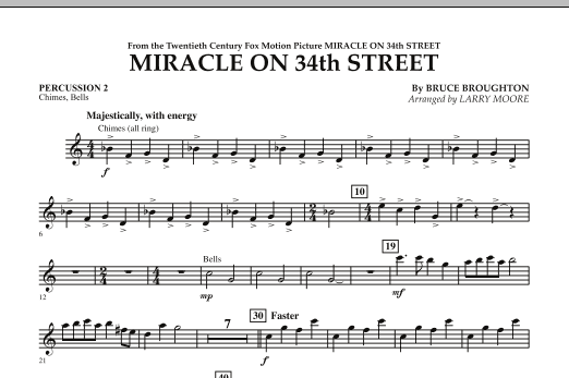 Miracle On 34th Street - Percussion 2 (Orchestra)