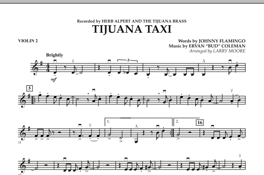 Tijuana Taxi - Violin 2 (Orchestra)