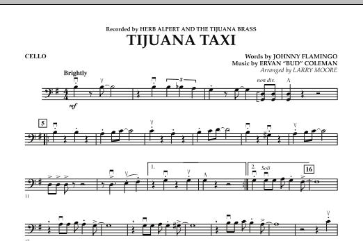 Tijuana Taxi - Cello (Orchestra)