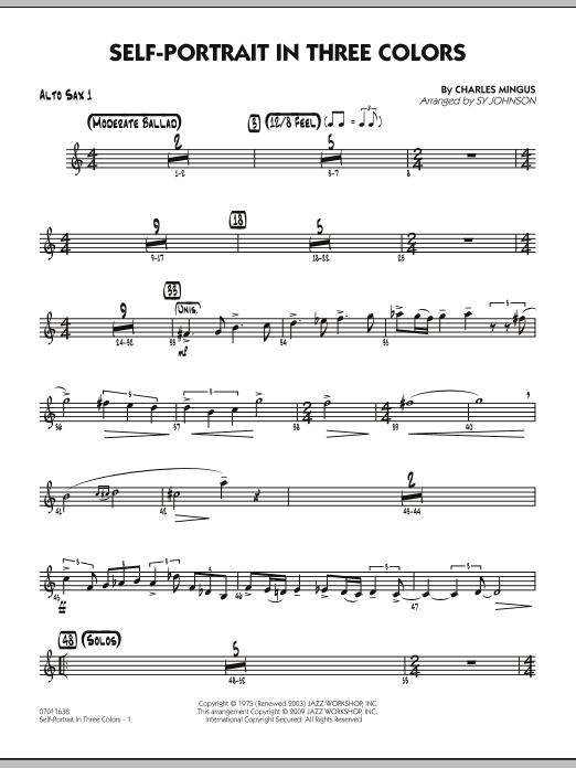 Self-Portrait In Three Colors - Alto Sax 1 (Jazz Ensemble)