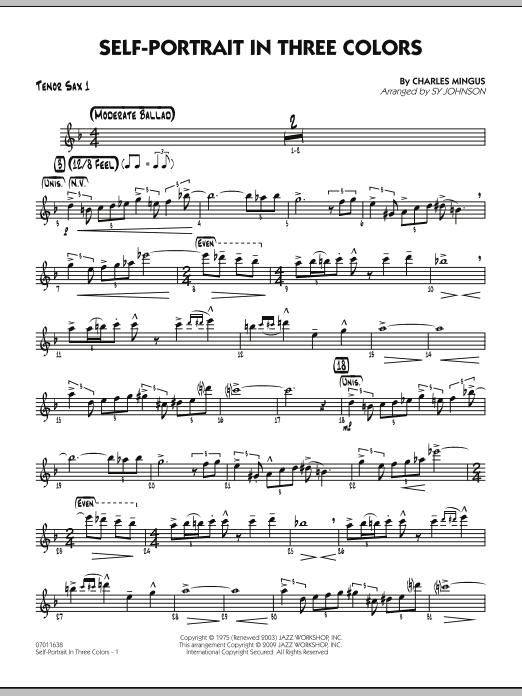 Self-Portrait In Three Colors - Tenor Sax 1 (Jazz Ensemble)