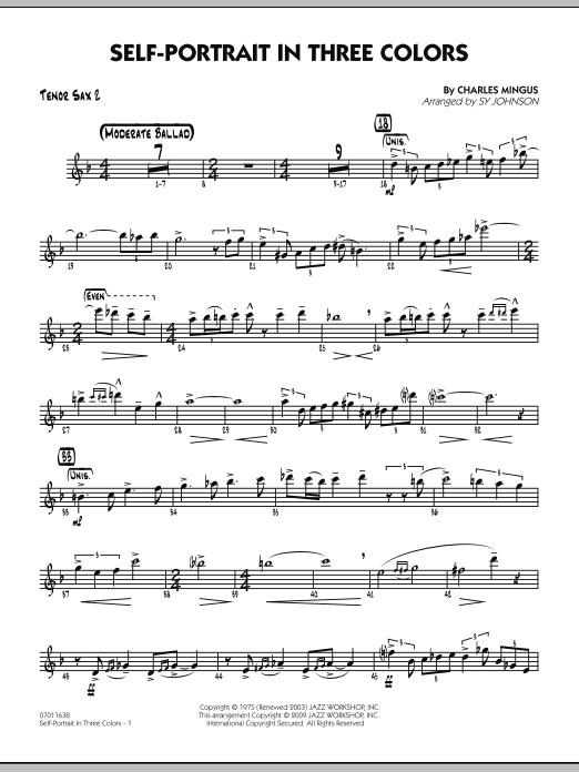 Self-Portrait In Three Colors - Tenor Sax 2 (Jazz Ensemble)