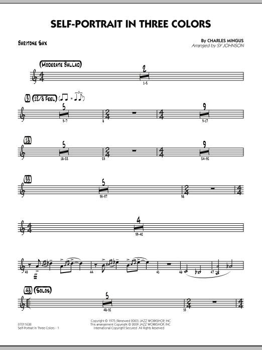 Self-Portrait In Three Colors - Baritone Sax (Jazz Ensemble)