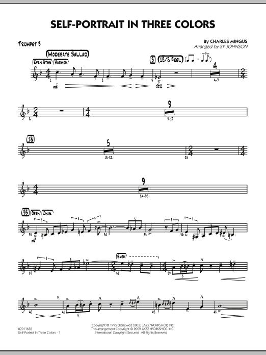 Self-Portrait In Three Colors - Trumpet 3 (Jazz Ensemble)