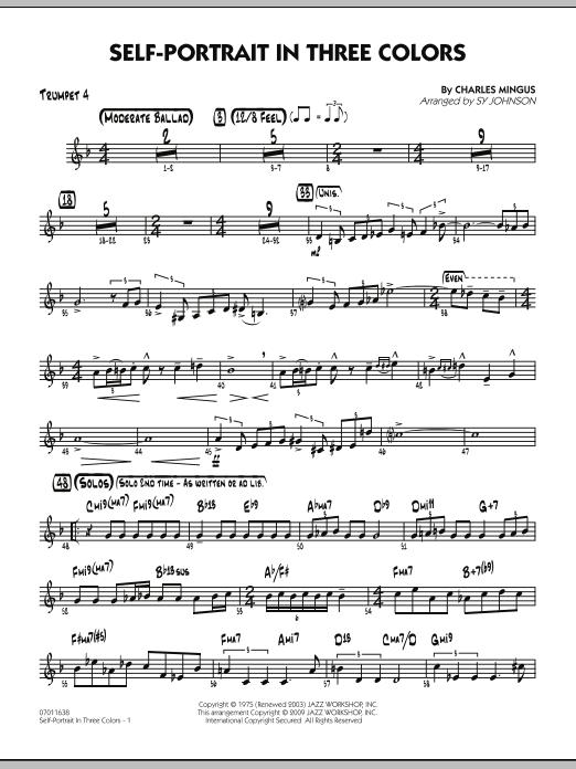 Self-Portrait In Three Colors - Trumpet 4 (Jazz Ensemble)