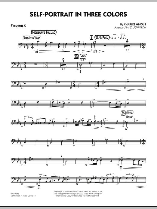 Self-Portrait In Three Colors - Trombone 2 (Jazz Ensemble)