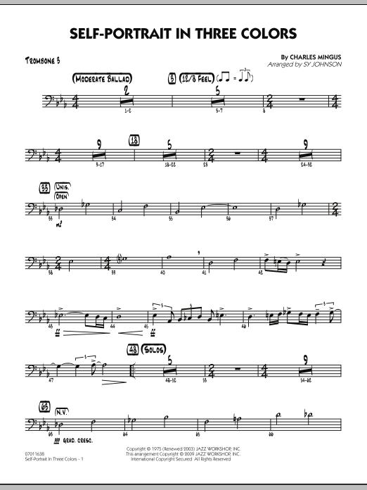 Self-Portrait In Three Colors - Trombone 3 (Jazz Ensemble)