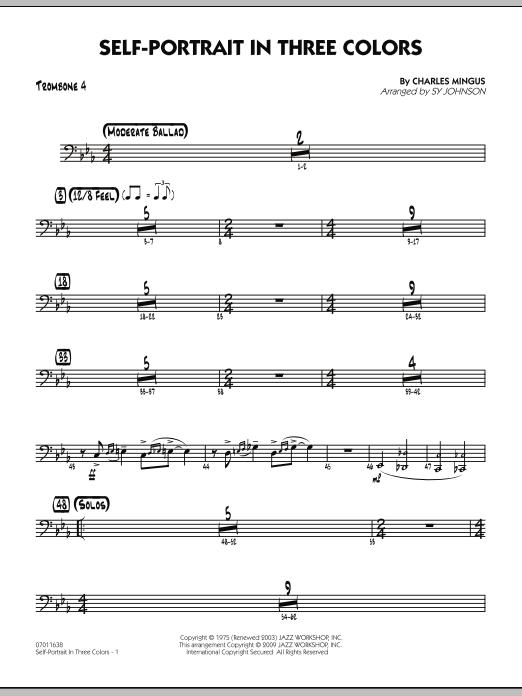 Self-Portrait In Three Colors - Trombone 4 (Jazz Ensemble)