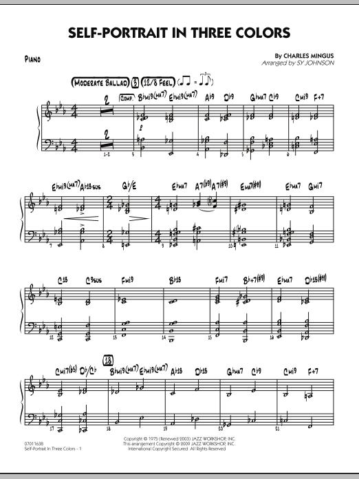 Self-Portrait In Three Colors - Piano (Jazz Ensemble)