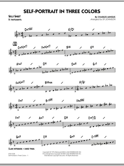 Self-Portrait In Three Colors - Bb Solo Sheet (Jazz Ensemble)