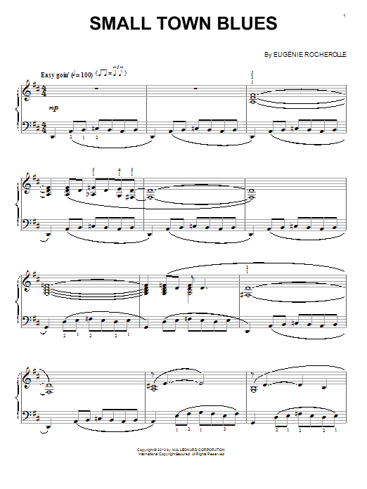 Small Town Blues Sheet Music