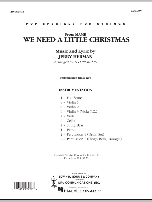 Need A Little Christmas.We Need A Little Christmas From Mame Orchestra Music