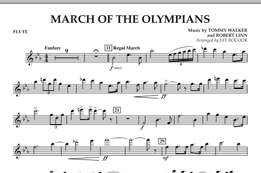 March Of The Olympians - Flute (Concert Band)