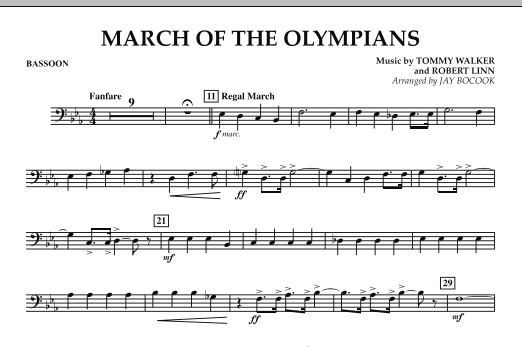 March Of The Olympians - Bassoon (Concert Band)